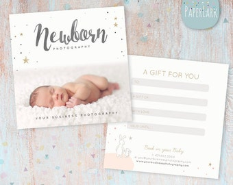 Photography Gift Certificate - Photoshop template - VG014 - INSTANT DOWNLOAD