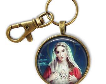 Catholic Keychain - Religious gift - Virgin Mary Gift