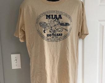 Vintage 1988 Michigan Intercollegiate College Association t-shirt MIAA Jerzees 50/50