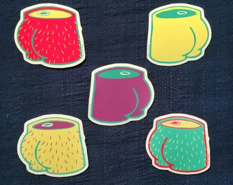 Assorted Butt Stickers