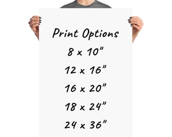 Poster Print - Any PrinticaStudio design to be printed and mailed to you (no frame)