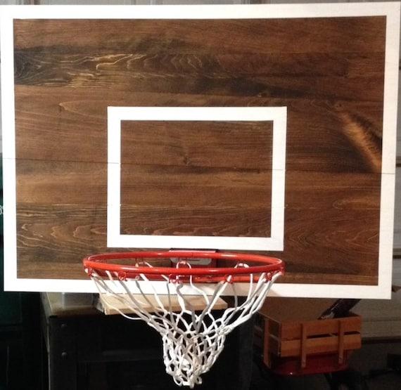 Popular Wood Basketball Hoop Backboard Farmhouse Style Rim Wall HR92