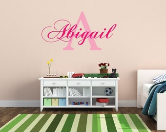 Personalized Name Decal Nursery Decor - Kids Room Teen Name Vinyl Wall Decal