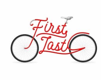 Su nombre en una bici - ilustración de bicicleta Custom, personalizados [DIGITAL descargar sólo]