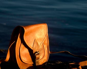 Leather Handbag Medium Shoulder Bag, leather bag, Leather purse