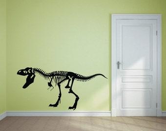 T-Rex Dinosaur Skeleton Vinyl Wall Sticker for Wall, History Classroom Poster Sign, Boys Bedroom Nursery Wall Art, Dinosaur Wall Stencil