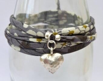 Boho wrap bracelet, boho bracelet, bohemian bracelet, heart bracelet, boho jewelry