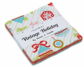 Vintage Holiday Charm Pack by Bonnie & Camille for Moda Fabrics