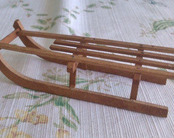 Wooden Slade for Small Doll or Animal Display
