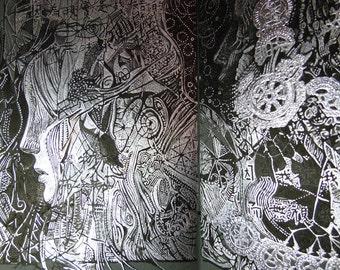 W-LB-G-B-B-G-LB-W / Gray - Scars Look Like Laces (Art Book - Comic Book)  ////// 6 color digital offset printing