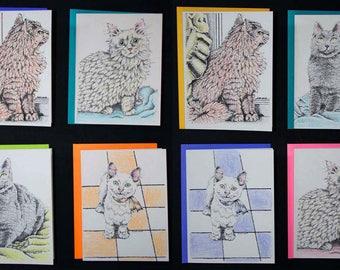Cat Notecards