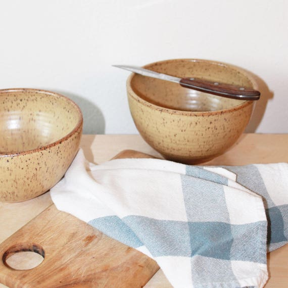 Yellow Bowl, bohemian bowl, midcentury modern bowl, Rustic bowl, Handmade bowl, ceramic bowl,