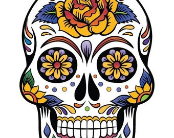 Sugar Skull Cross Stitch Pattern Pdf skull pattern patron de point de croix - 138 x 199 stitches -  INSTANT Download - B684