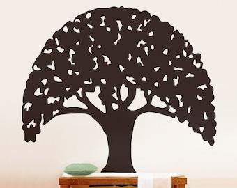 Vinyl Wall Decal Sticker Tree Umbrella Design 188