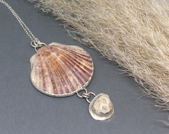 Ocean Jewelry, Coral Necklace, Sea Shell Necklace, Nature Necklace, Natural Necklace, Beach Necklace