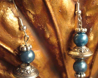 Southwest Blue Hand Made Beaded Earrings - Beautiful