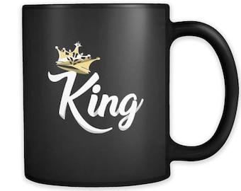 King Mug - King black ceramic 11 oz Mug