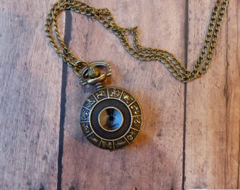Womens Pocket Watch Necklace Vintage Inspired with Chain