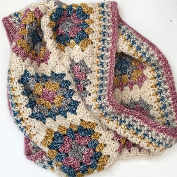 Crochet Pattern Granny Square Crochet Cowl Pattern Crochet Cowl