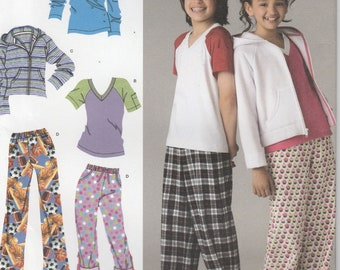 Lounge Pants Pattern Hoodie and Top Boys Girls Size 8 - 10 - 12 - 14 - 16 Uncut  Simplicity 2772