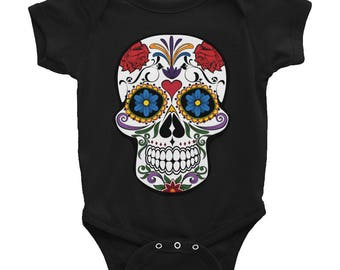 Day of the Dead Baby Onesie Cute Outfit Dia De Los Muertos Skull
