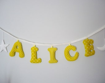 Name Banner, Made to Order Children banner, Custom Made Name banner, personalised name banner