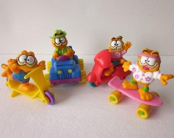 Vintage Garfield Figures Cars - McDonald's Happy Meal Toy Set
