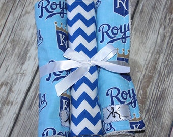Kansas City Royals Baseball Burp Cloths