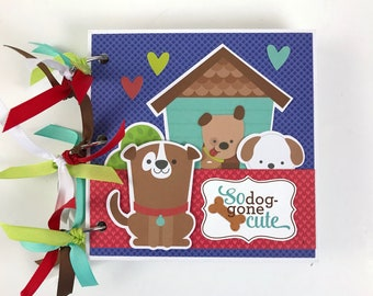 Dog Puppy Scrapbook Album Kit or Premade Scrapbook Album Pets