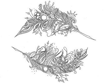 Colouring Sheet -  Mandala meets Zen Feather
