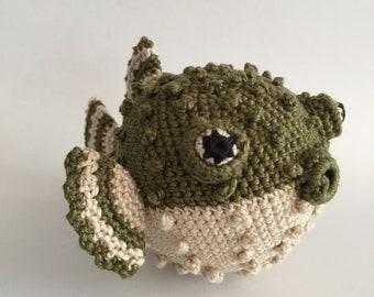 Crochet pufferfish, Amigurumi pufferfish, Crochet animal, Pufferfish, Stuffed toy, Stuffed animal, crochet animal