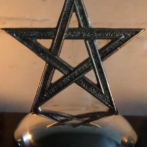 Pewter Pentacle Altar Centrepiece