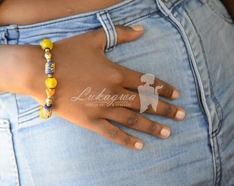 Multi-colored single beaded Afrocentric bracelets,African beaded bracelets