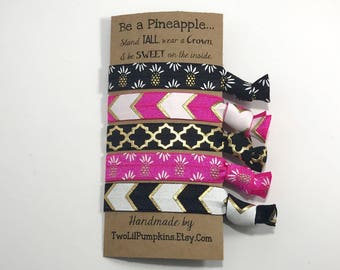 Be a Pineapple Gift for Her, Pineapple Hair Ties, Stand Tall Like a Pineapple, Pineapple Hair, Hair Tie Toddler, Hair Ties Elastic, Gift Set