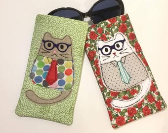 "ITH Project, Glasses Case / Cell phone holder ""Cedric"" -Machine Embroidery Pattern 5x7 Hoop - By Pixie Willow Patterns"