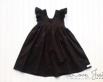 Little Girl Black Dress, Baby Girl Christmas Dress, Little Girl Dress, Dresses for Little Girls, Baby Girl Black Dress, Valentine Dress Girl