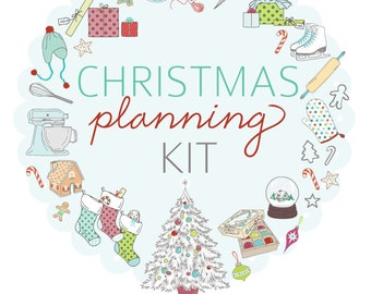 CHRISTMAS PLANNING Kit with scripture- Digital File Instant Download- gift planning, gift records, calendars