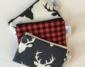 Reusable Snack Bag, Reusable Zipper Bag, Reusable Sandwich Bag, Zipper Pouch, Reusable, Buck Head Snack Bag, Lunch Bag, Reusable Bag