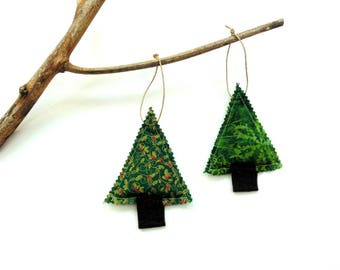 Balsam pine fir pine sachets, set of two, Christmas decor, teacher gift, tree trimming, holiday ornaments, scented sachets, balsam Christmas