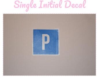 Single Initial Sticker
