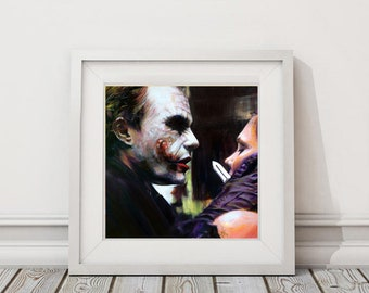 Joker #2- Art Print - from The Dark Knight
