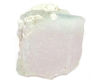 Morganite Pink and Blue Cap Gemstone Crystal Semiprecious Aquamarine Beryl Himalayan Gem stone Earth Geo Specimen from an estate collection