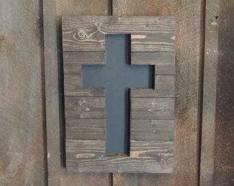Wooden Cross Chalkboard