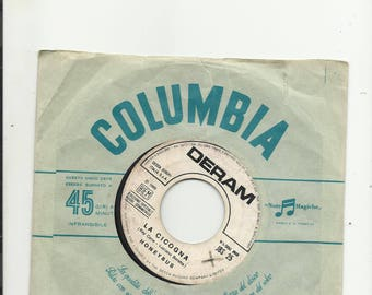 "7 ""  honeybus-thew moody blues    la cicogna - watching and waiting   juke box  1969"