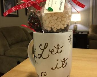 Hot Chocolate and Handpainted Mug Giftset