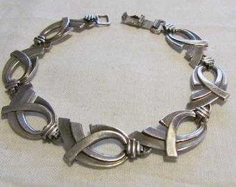 WRE Sterling Silver Link Bracelet