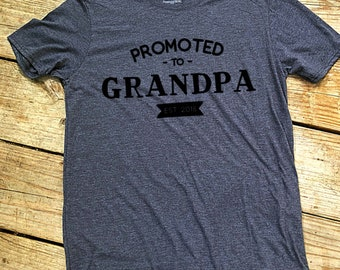 Promoted to Grandpa EST 2018 shirt