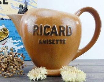 Grande Carafe Ricard Vintage - Ancienne carafe à eau - Bistrot - Bar - Carafe Pastis - Carafe Vintage - Anisette - Ricard - Bar parisien