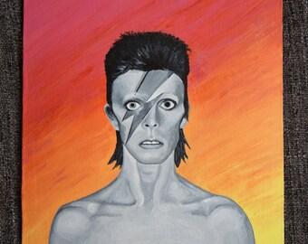 Original David Bowie Painting - Sunset Bowie