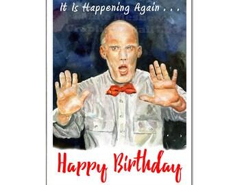 TWIN PEAKS, Twin Peaks Birthday Card, Twin Peaks Holiday Card, Twin Peaks Greeting Card, Giant, Fireman, Funny Birthday Card, Gift, For Him